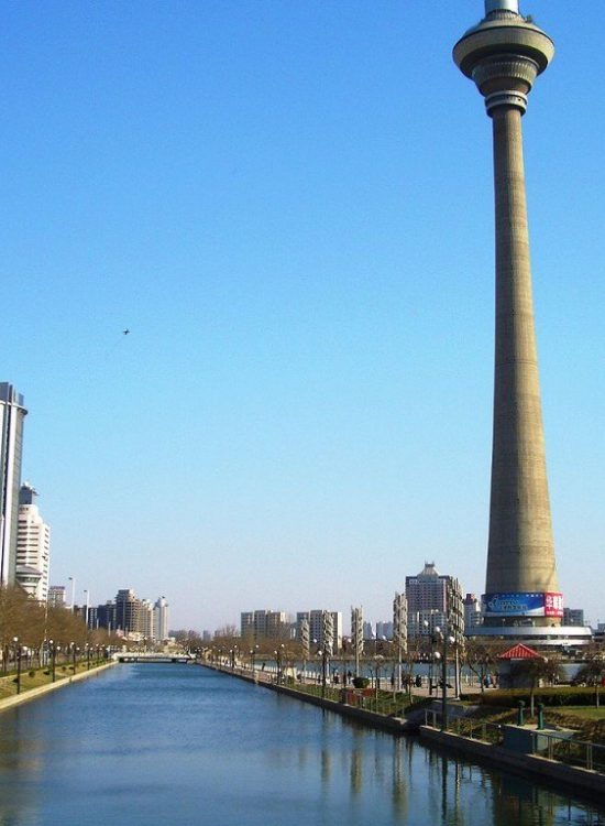 415.2 meters (1,362 ft) concrete tower opened in 1991 in Tianjin